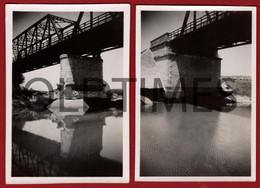 PORTUGAL - CORUCHE - LOTE 2 PCS - PONTE - 1950 REAL PHOTO - Lugares