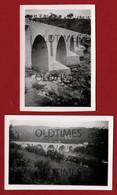 PORTUGAL - MARCO DE CANAVEZES - LOTE 2 PCS - VISTAS DA PONTE - 1948 REAL PHOTO - Lugares