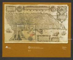 Portugal Angra Do Heroismo Açores Patrimoine UNESCO Carte Ancienne Bloc 2001 ** Azores World Heritage Old Map S/s ** - Unused Stamps
