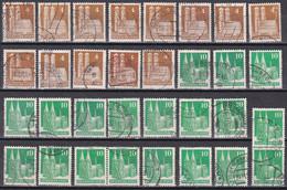 All. Besetzung Bizone - Mi.Nr. 73 - 96 Wg + Eg - Gestempelt Used - Undurchsucht Für Spezialisten - American/British Zone