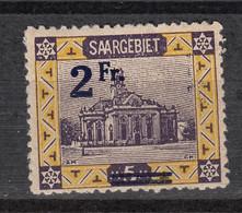 SAAR – SARRE  80 * (1921) – Overprint 2Fr Surchargé - Nuevos