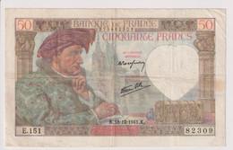 Billet 50 Francs France Jacques Coeur 18-12-1941.K TTB - 50 F 1940-1942 ''Jacques Coeur''