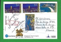 CARTE CHINE Pour La FRANCE 1991 - Briefe U. Dokumente