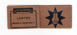 """Mini Répertoire Téléphonique Publicitaire - Lampes """" TUNGSRAM """"  Offert Par L. Henrotay à Verviers  193..? (B286) - Pubblicitari"""