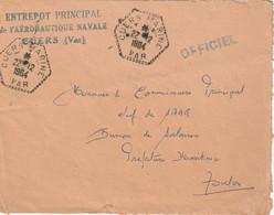 LFM AERONOTIQUE NAVALE BASE DE CUERS  (VAR) Tad Hexagonal CUERS MARINE 22/12/1964 - Posta Marittima
