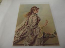 Chromo Découpis Portrait De  Jeune Femme   10,5 Cm Sur 14,3 Cm - Sonstige
