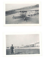 2 Petites Photos Avion Biplan Imperial Airways - Aviación