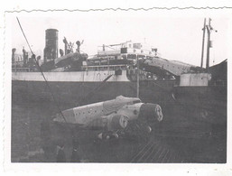 PHOTO  AVION DECHARGEMENT SAVOIA-MARCHETTI SM 81 PIPISTRELLO EN ETHIOPIE 1935 - Aviación