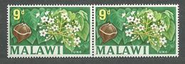 Malawi, 1964 (#7c), Local Motives Fruits Field Plants Tung Oil Tree Nuts Flowers China Burma Viet Nam - Bäume
