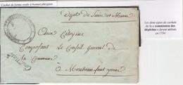 1 Précurseur Conv. Nationale, Commission Des Dépêches Bonnet Phrygien. Regardez Les Scans Tout Est Indiqué. Sans Contenu - 1701-1800: Precursors XVIII