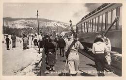 346 – Real B&W Photo RPPC 1950s - Lac Masson Québec Sainte-Marguerite Station Ski Train – Near Mint Condition - 2 Scans - Other