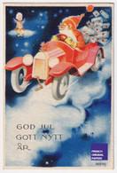 God Jul / Christmas 1932 Jolie Petite Carte Suède Artelius Enfant Ange Père Noël Santa Claus Voiture Automobile A52-1 - Santa Claus
