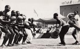 357 – Real B&W Photo RPPC – Nigeria Africa – Tiv Dancers Welcoming Queen Elizabeth -1956 – Near Mint Condition – 2 Scans - Nigeria