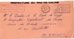 PAS De CALAIS - Dépt N° 62 = ARRAS GARE 1971 =  FLAMME  SECAP 'VOUS PARTEZ EN VACANCES / UTILISEZ ENVELOPPES PTT' - Mechanische Stempels (reclame)