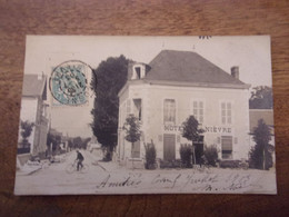 58 COSNE LOIRE CARTE PHOTO 1903 HOTEL DE LA NIEVRE - Cosne Cours Sur Loire