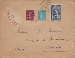 La Champenoise YT N°388 : 1er Jour D'émission Sur Enveloppe Recommandée, Au Tarif, 13 Juin 1938. - 1921-1960: Periodo Moderno