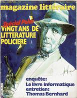 MAGAZINE LITTERAIRE - N° 194 Avril  1983 - VINGT ANS DE LITTERATURE POLICIÈRE - - Otros
