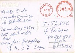 40873. Postal CARVALHIDO (Porto) Portugal 1978. Franqueo Mecanico - Covers & Documents