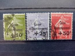 FRANCE . 1931 . N° 275.276 Et 277. Caisse D'Amortissement . Oblitérés  . Côte YT 2020 :  260,00 € - Oblitérés