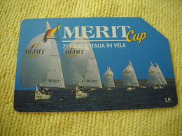 7281 Télécarte Collection MERIT CUP  GIRO ITALIE à La Voile Bateau Voilier ( Recto Verso)  Carte Téléphonique - Barche