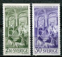 Schweden Sweden Sverige Mi# 449-50 Postfrisch/MNH - National Museum - Nuovi