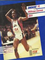 NEW YORK MILLROSE GAMES 1991 MEDIA GUIDE – ATHLETICS - TRACK AND FIELD - MAGAZINE - 1950-Oggi