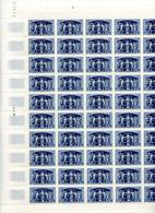 France - 1949 - Feuilles 50 Timbres Union Postale Universelle - NEUF Non Plié - No 852 - Cote 75 Euros - Hojas Completas