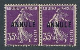 EC-298: FRANCE: Lot Avec N°142 CI1** (paire) - Corsi Di Istruzione