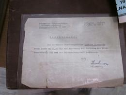Wermacht Untersuchungs Gefangnis Belgrad  Bestatigung WW2 Beograd Nazi Okupation Signatures Feldwebel - 1939-45