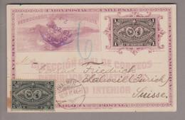 CH Heimat ZH Thalweil 1897-03-12 Ganzsache Aus Guatemala + Zusatzfrankatur - Briefe U. Dokumente