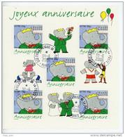 Bloc Feuillet N° 100 OBLITERE - Joyeux Anniversaire BABAR - Superbes Cachets Ronds Sce Phil PARIS Du 30/6/2006 - Usati