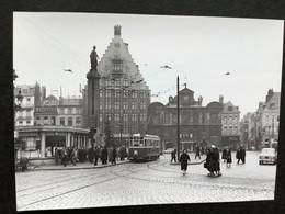 Photographie Originale De J.BAZIN : Tramways De LILLE (C.G.I.T./T.E.L.B) Grand' Place En 1956 - Trains