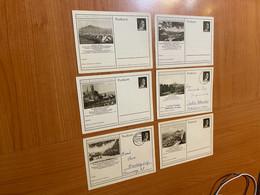 Allemagne Lot De 6 Cartes Avec Entiers Postaux ( Voire Scan) - Postcards - Used