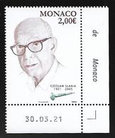 Monaco 2021 - Czeslaw Slania ** (coin Daté) - Neufs