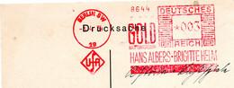 Métal, Or, Gold, Berlin - EMA Francotyp Sur Carte Commerciale - Covers & Documents