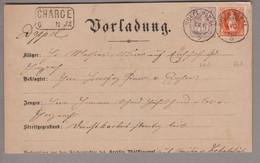 CH Heimat AG Wölflinswyl 1890-05-04 Vorladung Mit Zu#64A Wertziffer + Zu#66A Stehende H. - Briefe U. Dokumente