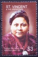St. Vincent & Gr. 2005 MNH, Rigoberta Menchu Of Guatemala Nobel Peace Prize Winner - Nobel Prize Laureates