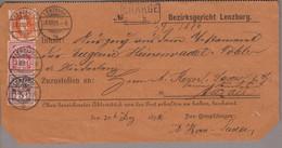 CH Heimat AG Lenzburg 1891-12-29 Zustellungsurkunde Mit Zu#66C+60A+61A Stehende H., Wertziffer - Briefe U. Dokumente
