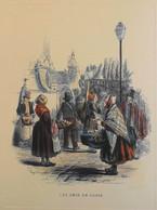 MENU - AIR FRANCE - Vol NEW YORK - PARIS - LES CRIS De PARIS Gravures Anciennes Collect. BERNARD GERARD - En TBE - Menu
