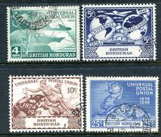 British Honduras 1949 75th Anniversary Of UPU Set Used (SG 172-175) - Brits-Honduras (...-1970)