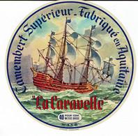 """Et. Camembert D'Aquitaine - """" LA CARAVELLE """" - Kaas"""