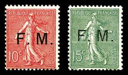 N°3/4 ** 15c Et 10c Semeuse, Les 2 Ex TTB Cote 340€ - Franchise Stamps