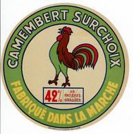 """Et. Camembert Surchoix Fabriqué Dans La Marche """" COQ """" - Kaas"""
