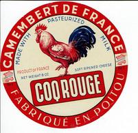 """Et. Camembert De France """" LE COQ ROUGE """" - Kaas"""
