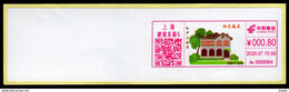 China Shanghai Postage Machine Meter Lable /ATM:The Starting Point Of The Revolution-Sun Yat-sen's Former Residence - Brieven En Documenten