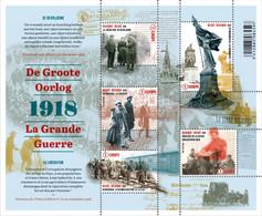 Blok 268** De Groote Oorlog (De Bevrijding) 4722/26**/ La Grande Guerre (la Libération) Deel 5-Part 5 (België 2018) - Nuevos