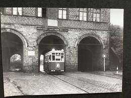 Photographie Originale De J.BAZIN : Tramways De LILLE (C.G.I.T./T.E.L.B) Porte  De GAND En 1957 - Trains