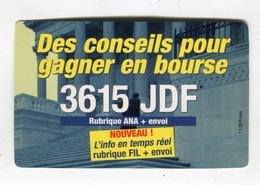 Carte De Visite °_ Carton-3615 JDF-Conseils Pour Gagner En Bourse - Tarjetas De Visita