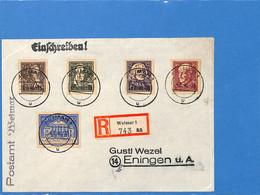 Allemagne Bizone 1946 Lettre De Weimar (G2003) - Zona Anglo-Americana