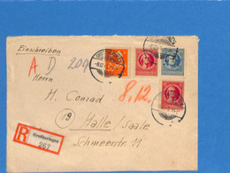 Allemagne Bizone 1945 Lettre De Großheringen  (G2004) - Zona Anglo-Americana